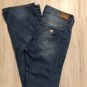 {guess} distressed medium wash jeans